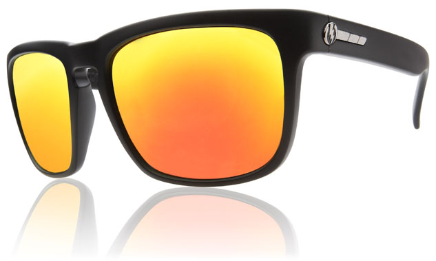 Electric Knoxville Sunglasses Matte Black Grey Fire Chrome