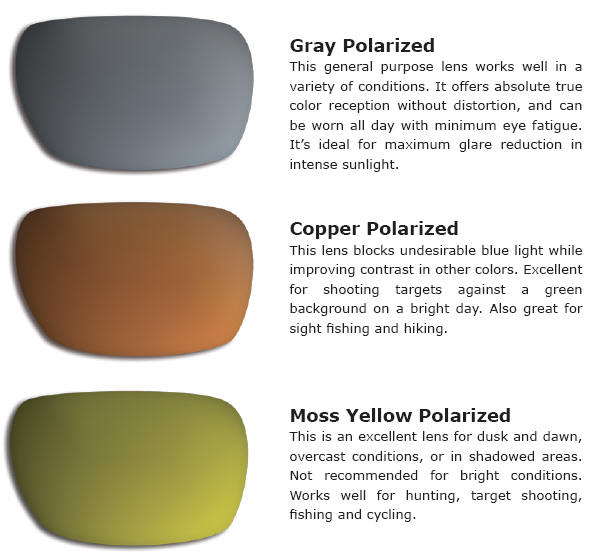 polarized lenses colors