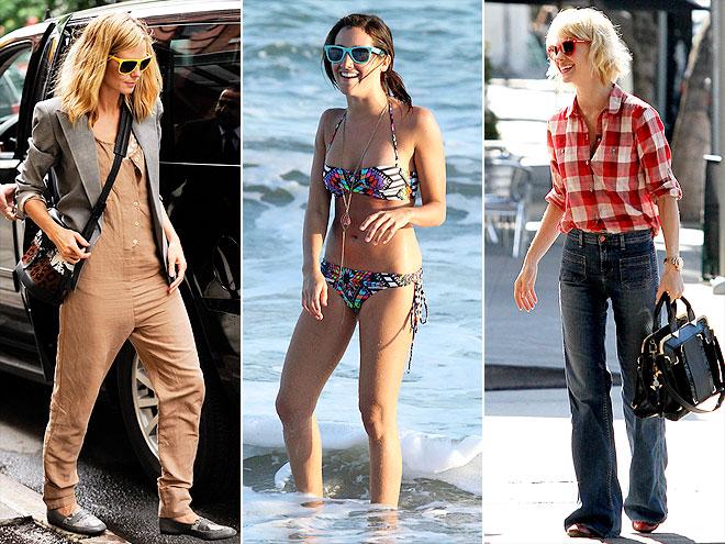 colorful sunglasses celebrities