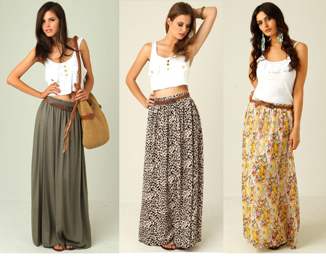 How To Wear The Maxi Skirt  Sunglasses and Style Blog ...