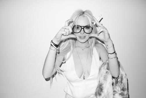 lindsay lohan terry richardson glasses picture