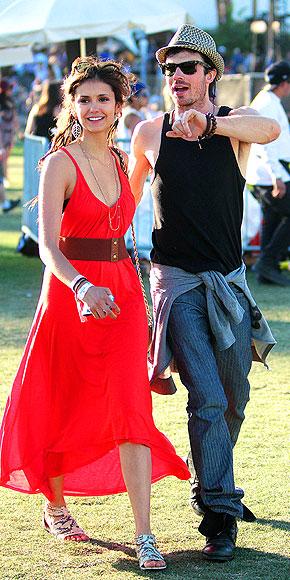 NINA DOBREV & IAN SOMERHALDER Coachella 2012