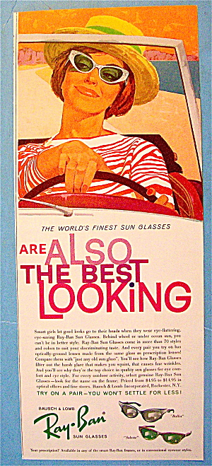 1961 rayban sunglasses ad