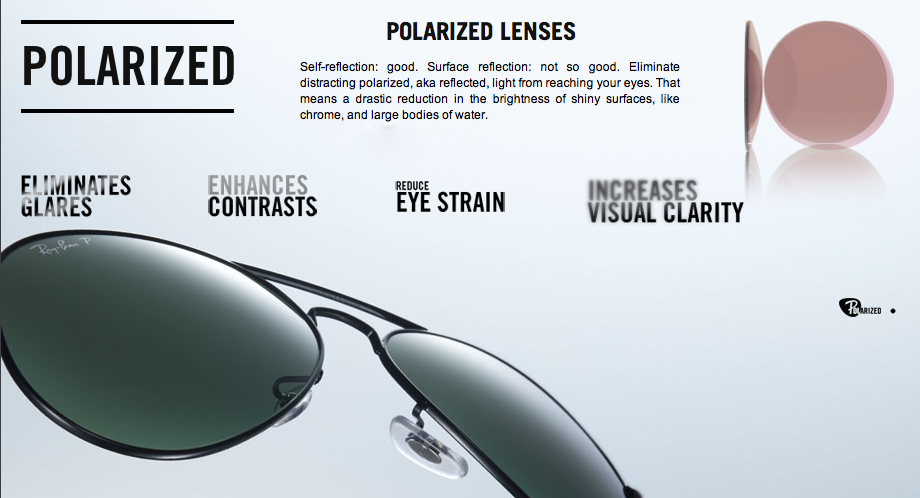sunglasses lenses polarized  The 5 Types of Ray-Ban Sunglass Lenses