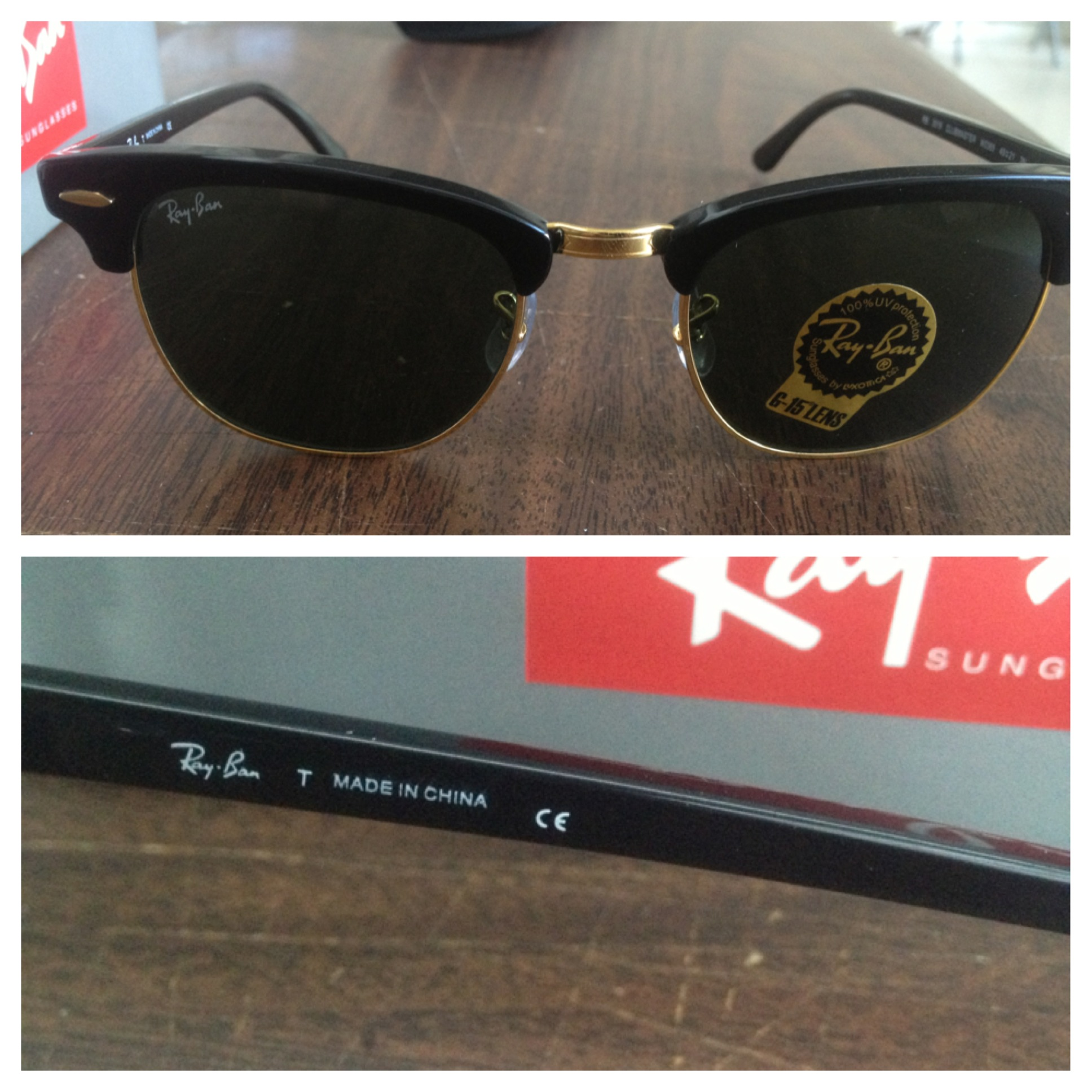 ray-ban clubmasters made in china