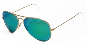 ray ban green mirrored flash lenses aviators