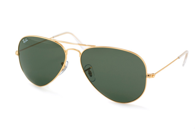 ray ban rb3025 l0205 gold aviators sunglasses