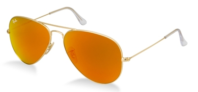 rayban rb3025 112-69 aviators orange brown lens