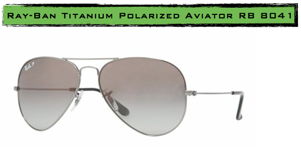 ray ban aviator titanium frame