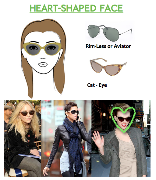 How to Choose Sunglasses for Heart-Shaped Faces ...