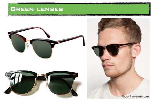 ray ban green lenses sunglasses
