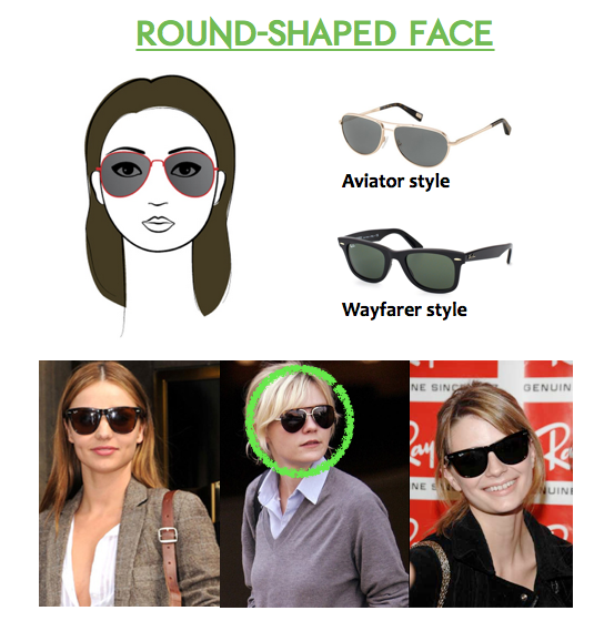 Best Glasses Frame For Round Face : How to Choose Sunglasses for Round Faces Sunglasses and ...