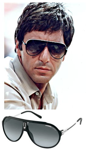 Ray ban shooter hunter s thompson for Occhiali al pacino scarface