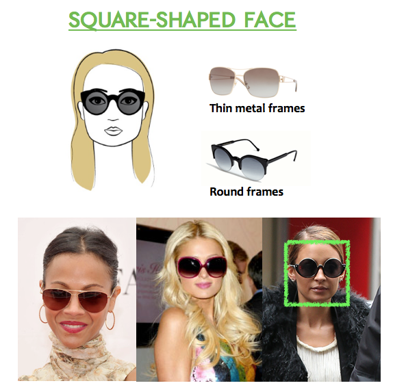 Best Eyeglass Frame Shape For Square Face : How To Choose Sunglasses for Square-Shaped Faces ...