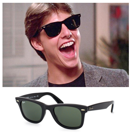rayban wayfarer men 66og  Top 10 Sunglasses for Men in Movie History