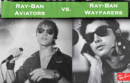 comparing wayfarers and aviators