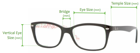 Eyeglass Measurements On Frame : How are Sunglasses Measured? Sunglasses and Style Blog ...