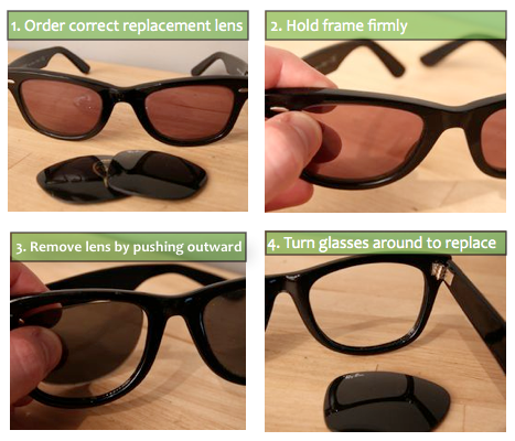 ray ban sunglasses replacement parts  photos: ehow