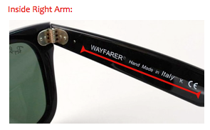 ray ban glasses hinge  while