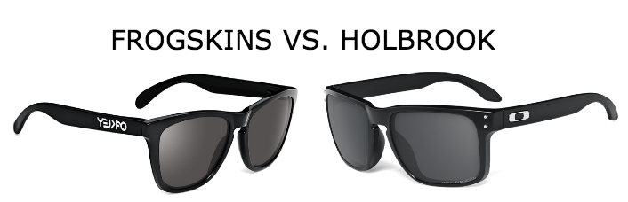 ray ban sunglasses vs. oakley  comparing oakley frogskins vs. oakley holbrook sunglasses