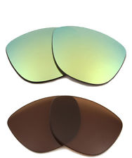 green and brown sunglass lenses