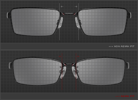oakley asian fit vs regular fit