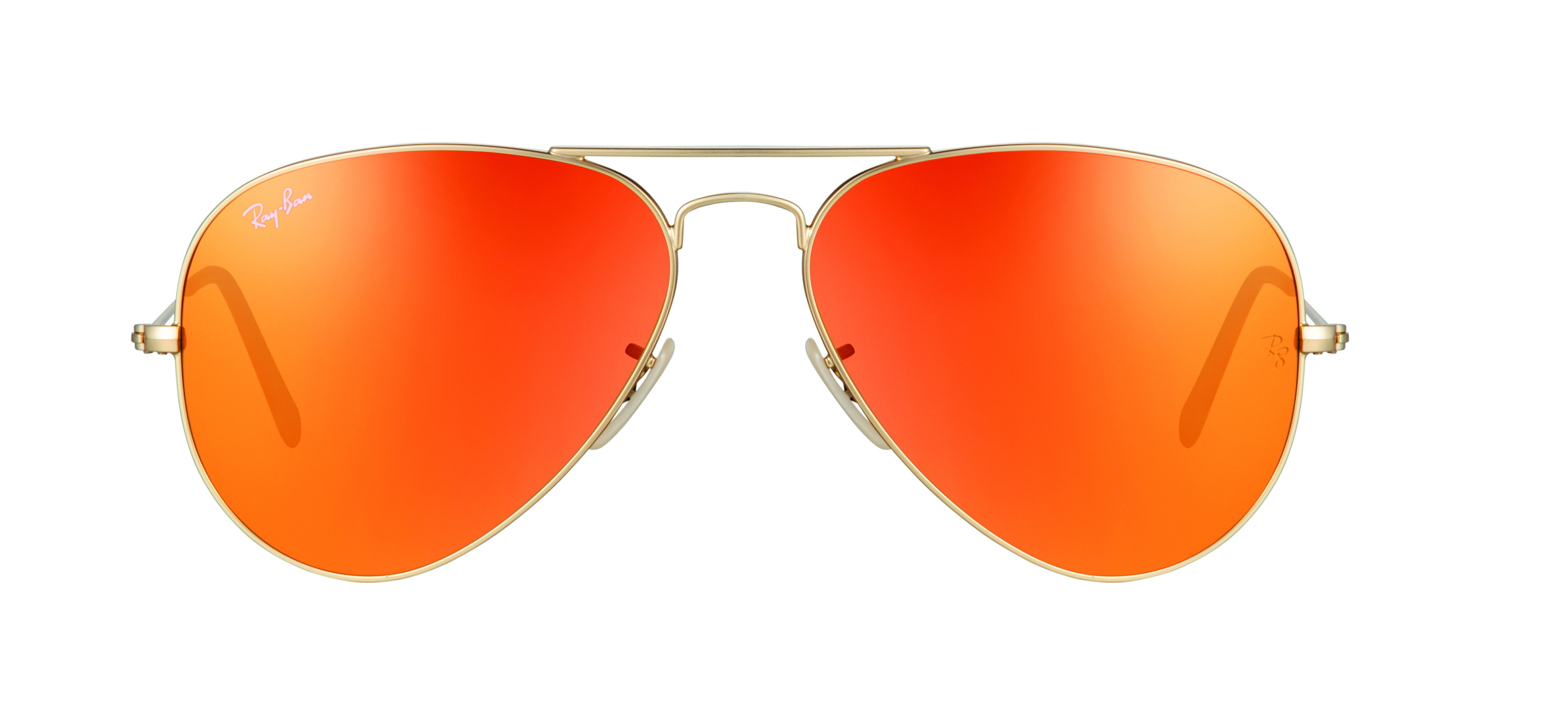 ray ban mirrored orange frames