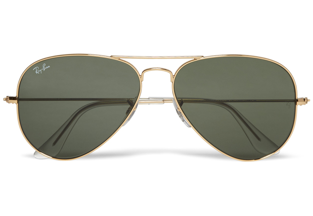 ray ban aviator sunglasses used  are ray ban lenses made of glass or plastic?