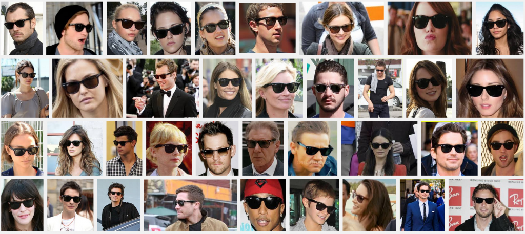 celebrities wearing ray-ban wayfarers 2140