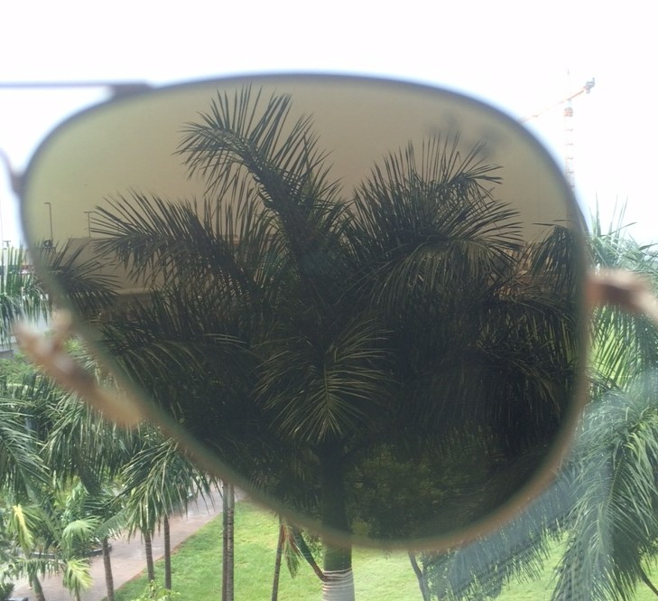 blue mirror lenses inside