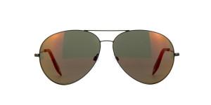 Victoria Beckham Classic Victoria Platinum aviators with mirrored lenses,