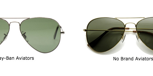 cheap vs. expensive aviator sunglasses