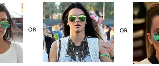 ray ban green flash mirror compare who wore it best kardashians