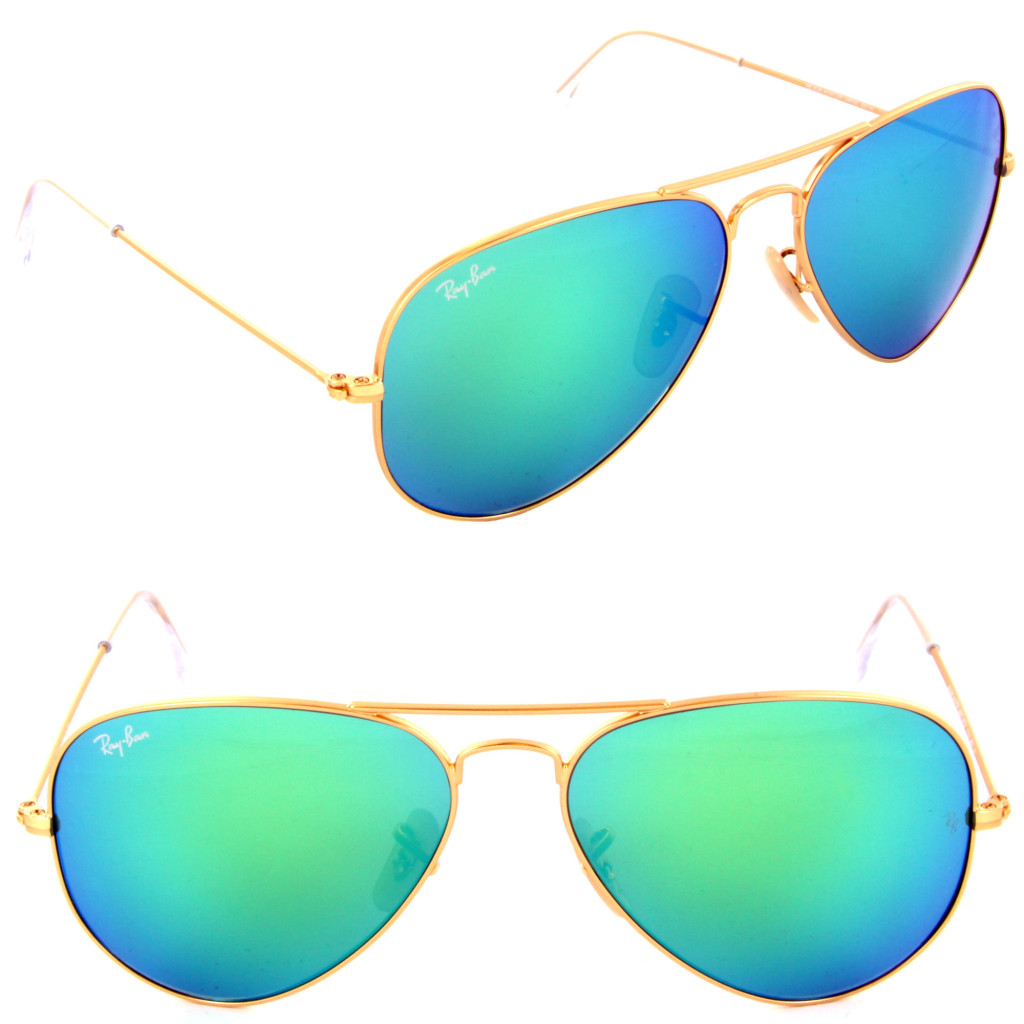ray ban mirrored aviators on sale  ray ban green mirror aviators