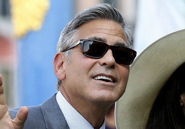 george clooney wedding sunglasses