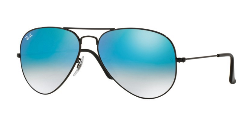 Ray-Ban Aviator Black Blue Mirror Lens RB3025 0024O