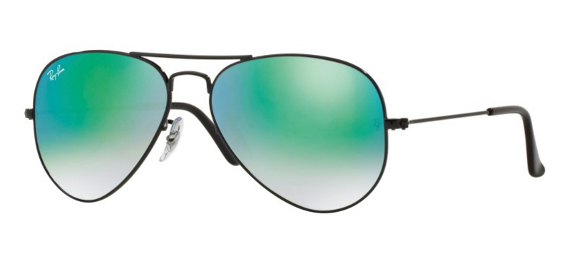 ray ban aviator black frame blue lens  Ray-Ban Mirror Aviators 62mm X-Large Now Available - New Colors ...