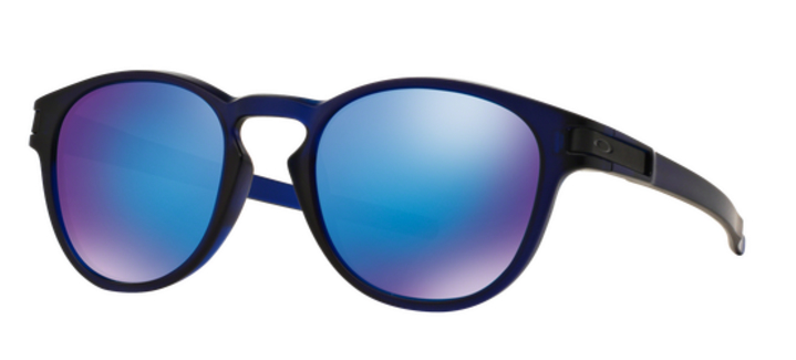 oakley latch MATTE TRANSLUCENT BLUE sunglasses with sapphire iridium lenses