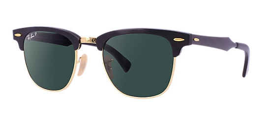 Ray Ban Clubmaster Aluminum Polar Sunglasses RB3507 136/N5